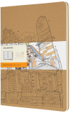 Moleskine - The Wandering City - sešity linkované 2ks XL  - Moleskine