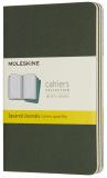 Moleskine: Sešity 3 ks čtverečkované zelené S - Moleskine