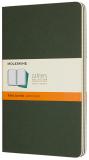 Moleskine - sešity 3 ks linkované zelené L - Moleskine