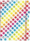 Sešit flex A4 linkovaný/čtverečkovaný - Smiley World Rainbow - Herlitz