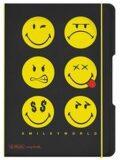 Sešit flex A5 čtverečkovaný - Smiley World Black - Herlitz