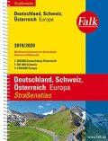 Německo, Rakousko, Švýcarsko atlas Falk spirála  19/20 - neuveden