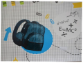 Ubrus do výtvarné výchovy 65x50cm School - Karton P+P