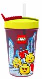 LEGO ICONIC Girl kelímek s brčkem - žlutá/červená - SmartLife