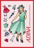 Adina - Vystřihovací papírová panenka v retro stylu - neuveden