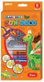 Barvy na sklo sada Dino - 6 barev 10,5 ml + 6 sklíček - Anděl Přerov