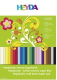 Blok barevných kartonů 24 listů 24x34cm 220g - KANORG
