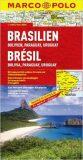 BRAZÍLIE, BOLÍVIE, PARAGUAY, URUGUAY 1: 4 000 000 - Marco Polo