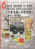 České země v éře první republiky (1918 - 1938) I. - Zdeněk Kárník