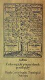 Česko-anglický příruční slovník genealogický - Jan Pařez