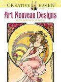 Creative Haven Art Nouveau Designs Coloring Book - Alfons Mucha