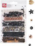 Dekorace 6 druhů - Trend černé/měděné - KANORG