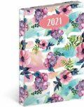 Denní diář Cambio Fun 2021, Květiny, 15 × 21 cm - Presco Group