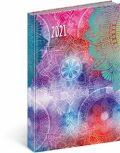 Denní diář Cambio Fun 2021, Mandala, 15 × 21 cm - neuveden