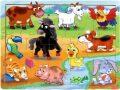 Dřevěné puzzle Na venkově - Top Bright