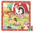 Dřevěné puzzle Zvířátka na farmě - Top Bright