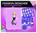 Fashion Girl kreativní skicák - Módní návrhářka (růžová) - Playco