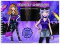 Fashion Girl kreativní skicák - Módní návrhy (fialová) - Playco