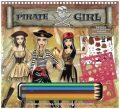 Fashion Girl kreativní skicák - Pirátská návrhářka (s pastelkami) - Playco