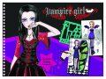Fashion Girl kreativní skicák - Upíří návrhářka - Playco