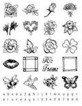 Gelová razítka - Kytky + mini abeceda s čísly - SMT Creatoys