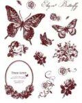 Gelová razítka - Motýlci s ornamenty - SMT Creatoys