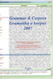 Gramatika a korpus 2007 - František Štícha