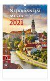Kalendář 2021 nástěnný: Nejkrásnější místa ČR, 315x450 - Helma