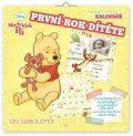 Poznámkový kalendář Medvídek Pú - První rok dítěte, nedatovaný, 30 x 30 cm - Presco Group
