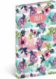 Kapesní diář Cambio Fun 2021, Květiny, 9 × 15,5 cm - neuveden