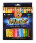 Koh-i-noor pastelky MAGIC multibarevné 12+1ks v sadě - KOH-I-NOOR HARDTMUTH