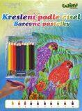 Kreslení podle čísel - Papoušci - Wiky