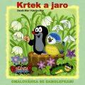 Krtek a jaro - omalovánky čtverec s háčkem na zavěšení - Zdeněk Miler