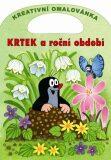 Krtek a roční období - Kreativní omalovánky A4 s výsekem - Zdeněk Miler