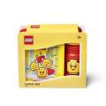 LEGO ICONIC Girl svačinový set (láhev a box) - žlutá/červená - SmartLife