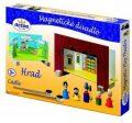 Magnetické divadlo Hrad s dřevěnými figurkami v krabici - Detoa