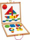 Magnetický kreativní kufřík s tvary - Woody