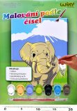 Malování podle čísel - Slon - Wiky