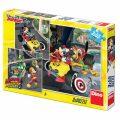 Mickey a Minnie - Závodníci - puzzle 3x55 dílků - Disney Walt
