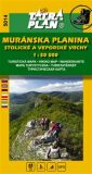 Muránska planina, Stlolické a Veporské vrchy - Turistická a cykloturistická mapa 1:50 000 -