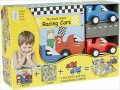 My Little Book about Racing Cars (Book, Wooden Toy & 16-piece Puzzle) - neuveden