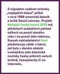 Nejlepší české básně 2015 - Petr Borkovec, Tomáš Gabriel
