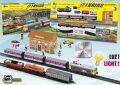 Kovový vlak (2v1) se dvěma soupravami vozů - 3 osobními a 3 nákladními vozy - Pequetren