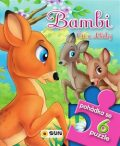 Pohádkové čtení s puzzle - Bambi čti a skládej - SUN