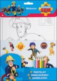 Požárník Sam set - modrá, pastelky - Ella & Max
