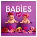 Poznámkový kalendář Babies – Věra Zlevorová 2021, 30 × 30 cm - Presco Group