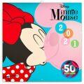 Poznámkový kalendář Minnie 2021, s 50 samolepkami, 30 × 30 cm - Presco Group