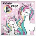 Kalendář 2022 poznámkový: Šťastní jednorožci, 30 × 30 cm - Presco Group