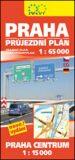 Praha průjezdní plán 1:65 000 + Praha Centrum 1:15 000 - Žaket