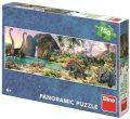 Puzzle Dinosauři u jezera 150 dílků panoramic - Dino Toys